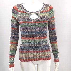 FREE PEOPLE Sunshine Dreamer Sweater S Keyhole